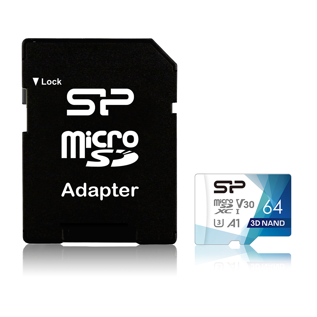 Карта Памяти micro SDXC 64Gb Silicon Power Superior Pro UHS-I U3 V30 A1 + ADP (100/80 Mb/s) недорого
