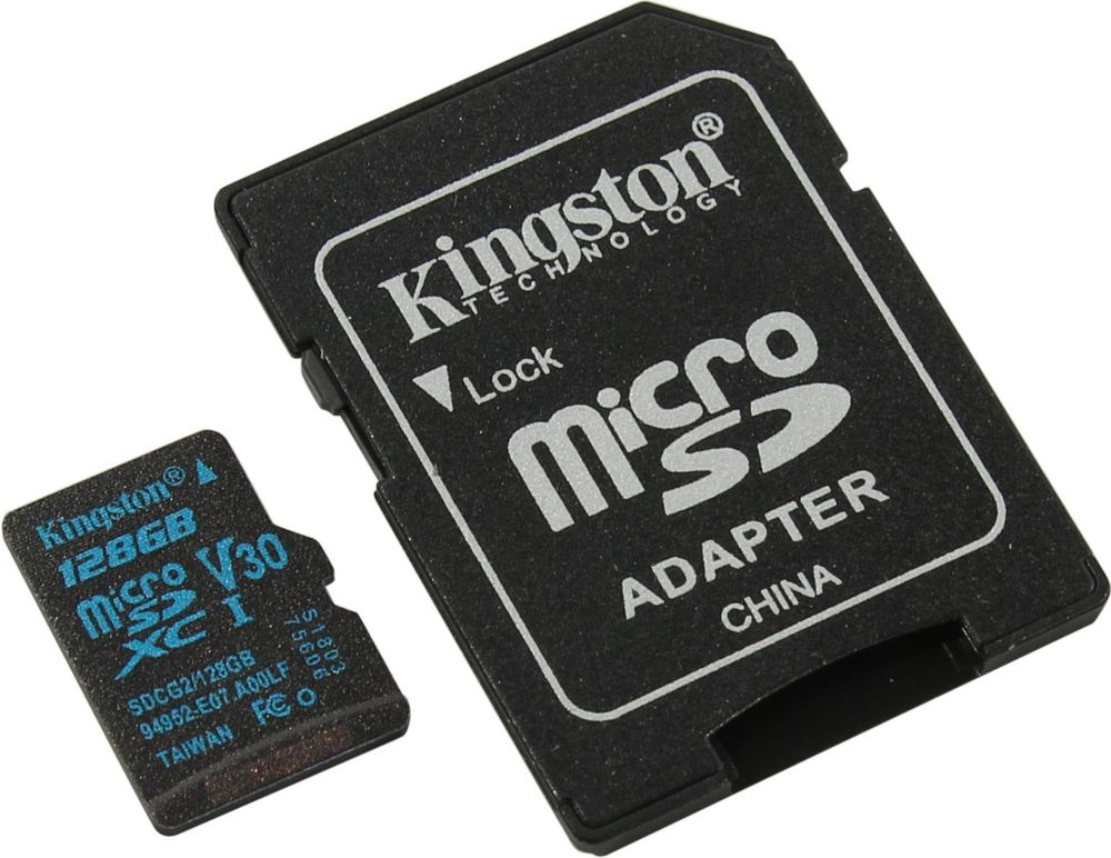 Фото - Карта Памяти micro SDXC 128Gb Kingston Canvas Go UHS-I U3 + ADP (90/45 Mb/s) карта памяти microsdxc 128gb kingston class uhs i u3 v30 canvas go [sdcg2 128gbsp]