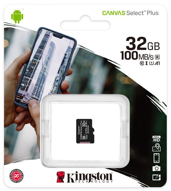 Фото - Карта памяти Kingston micro SDHC 32Gb Canvas Select Plus UHS-I U1 A1 + ADP (100/10 Mb/s) карта памяти kingston micro sdhc 32gb canvas select plus uhs i u1 a1 adp 100 10 mb s