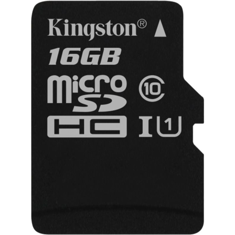 Карта памяти Kingston microSDHC 16Gb Class10 (SDCS2/16GBSP)