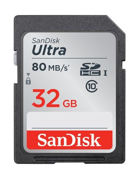 Фото - Карта памяти SanDisk Ultra SDHC Class 10 UHS-I 80MB/s 32GB (SDSDUNR-032G-GN6IN) 32gb sandisk ultra fit sdcz43 032g g46