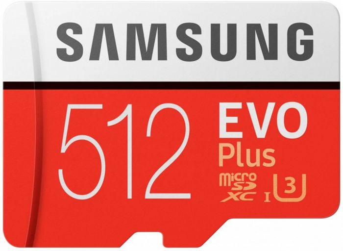 Фото - Карта памяти Samsung microSDHC EVO+ 512Gb+SD adapter (MB-MC512HA/RU) карта памяти samsung mb mc128ha