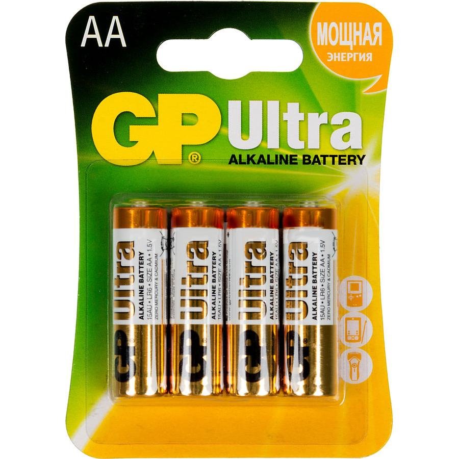 Батарейка AA GP Ultra Alkaline 15AU LR6 (4шт) ag8 lr55 1 55v alkaline cell button batteries 10 piece pack