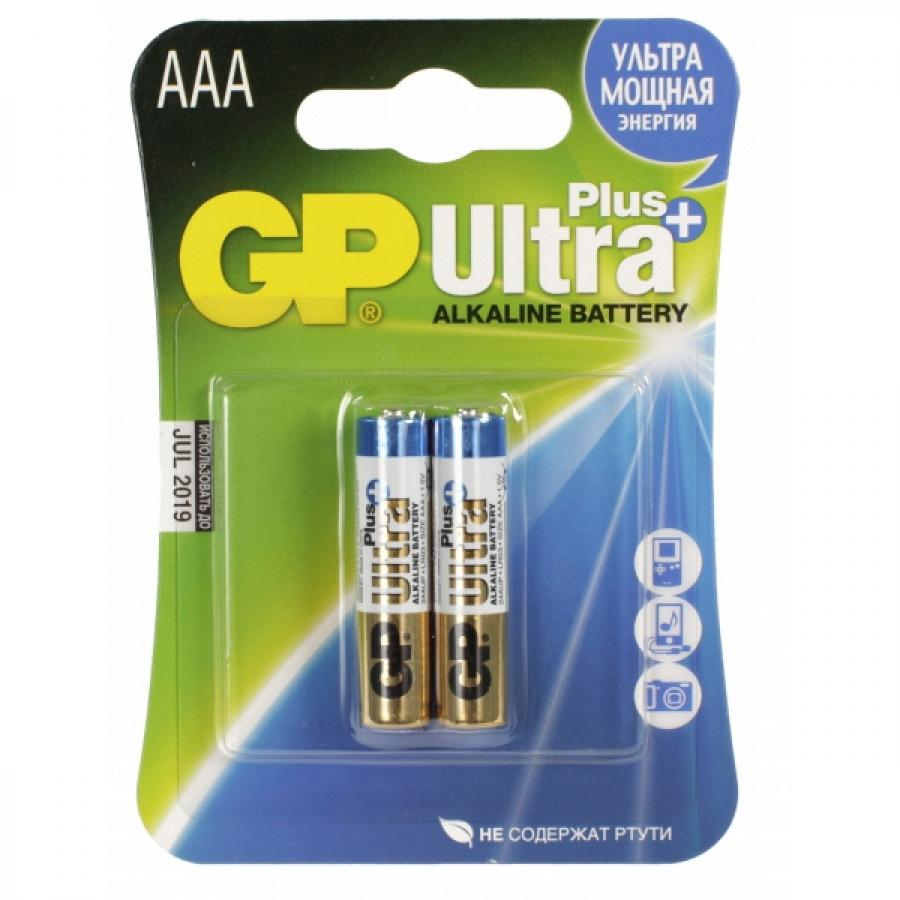 Батарейка AAA GP Ultra Plus Alkaline 24AUP LR03 (2шт) ag8 lr55 1 55v alkaline cell button batteries 10 piece pack