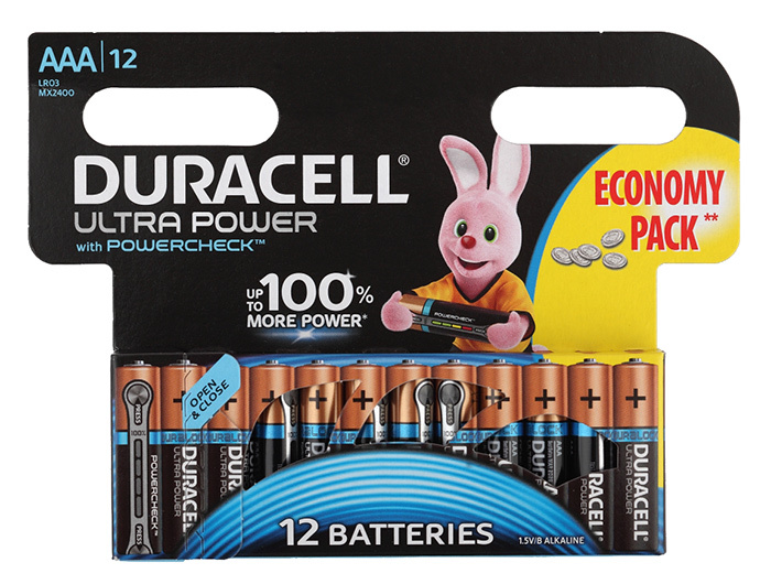 цена на Батарея Duracell Ultra Power LR03-12BL MX2400 AAA (12шт)