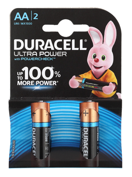 Батарея Duracell Ultra Power LR6-2BL MX1500 AA (2шт) батарейки duracell lr6 2bl turbo max aa 2шт